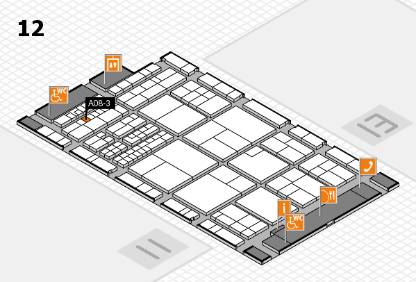 interpack 2017 hall map (Hall 12): stand A08-3