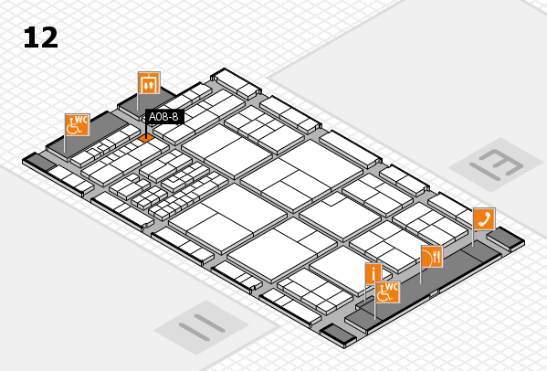 interpack 2017 hall map (Hall 12): stand A08-8