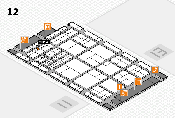 interpack 2017 hall map (Hall 12): stand A08-4