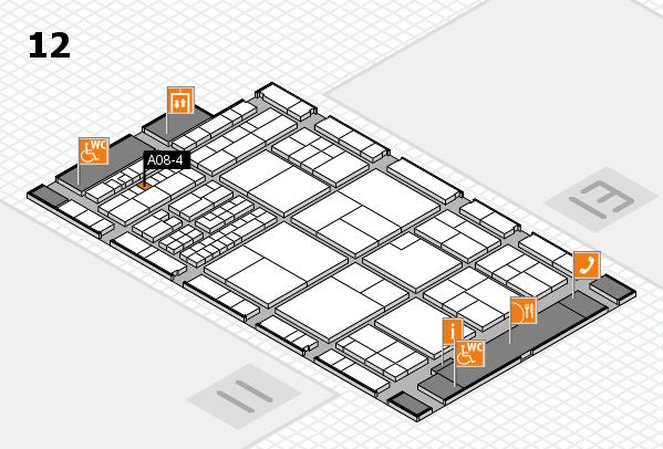 interpack 2017 Hallenplan (Halle 12): Stand A08-4