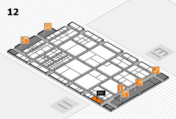 interpack 2017 Hallenplan (Halle 12): Stand F01