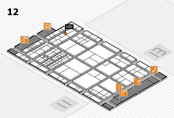 interpack 2017 hall map (Hall 12): stand A38