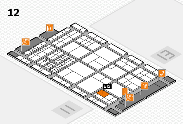 interpack 2017 hall map (Hall 12): stand E12