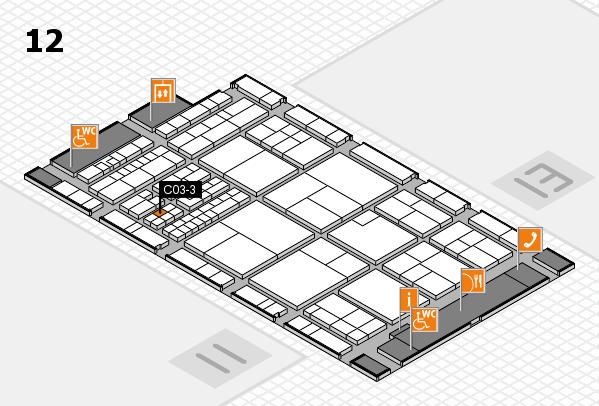 interpack 2017 Hallenplan (Halle 12): Stand C03-3