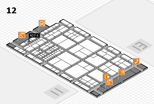 interpack 2017 hall map (Hall 12): stand A07-4