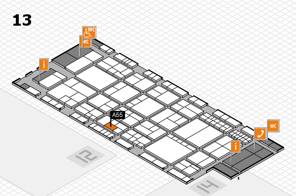 interpack 2017 hall map (Hall 13): stand A55