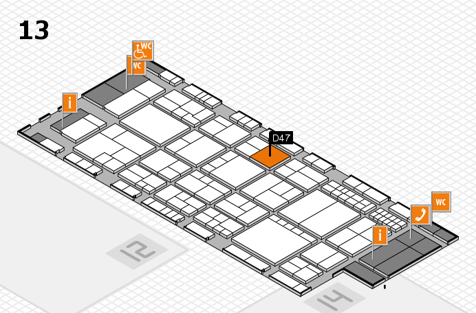 interpack 2017 hall map (Hall 13): stand D47