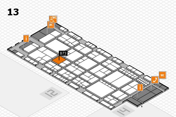 interpack 2017 Hallenplan (Halle 13): Stand B73