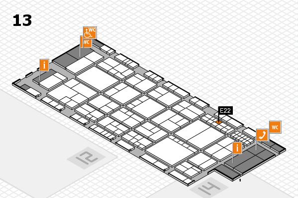 interpack 2017 Hallenplan (Halle 13): Stand E22
