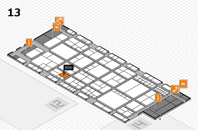 interpack 2017 hall map (Hall 13): stand B64
