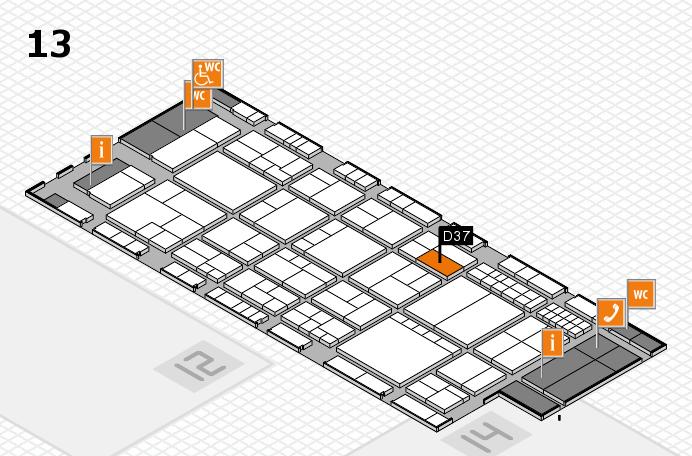 interpack 2017 Hallenplan (Halle 13): Stand D37
