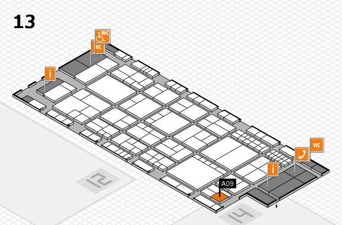 interpack 2017 Hallenplan (Halle 13): Stand A09