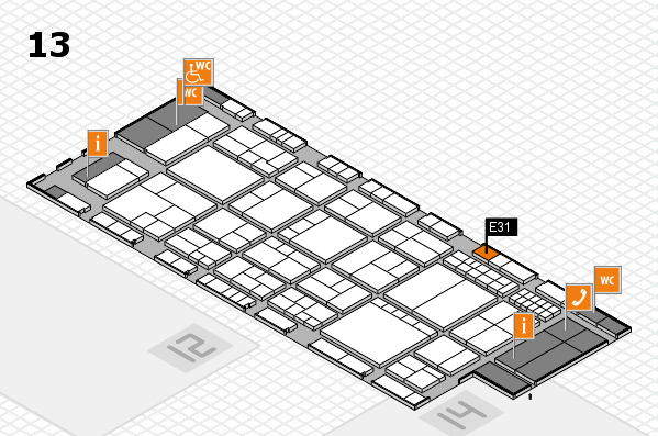 interpack 2017 hall map (Hall 13): stand E31