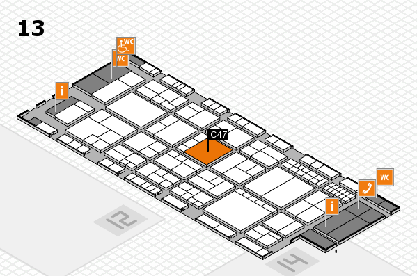 interpack 2017 hall map (Hall 13): stand C47