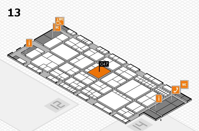 interpack 2017 Hallenplan (Halle 13): Stand C47