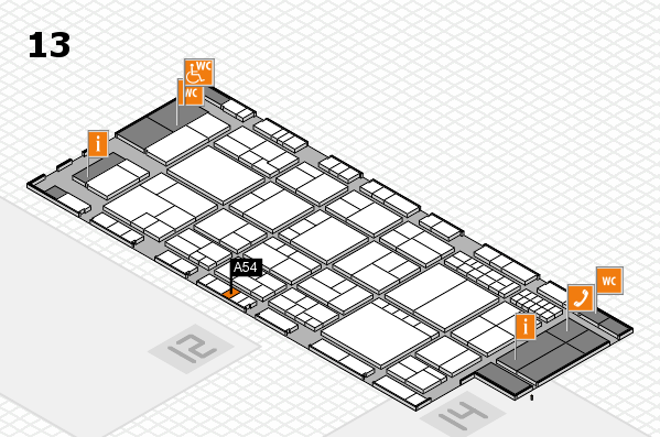 interpack 2017 hall map (Hall 13): stand A54