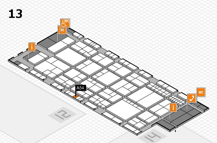 interpack 2017 Hallenplan (Halle 13): Stand A54