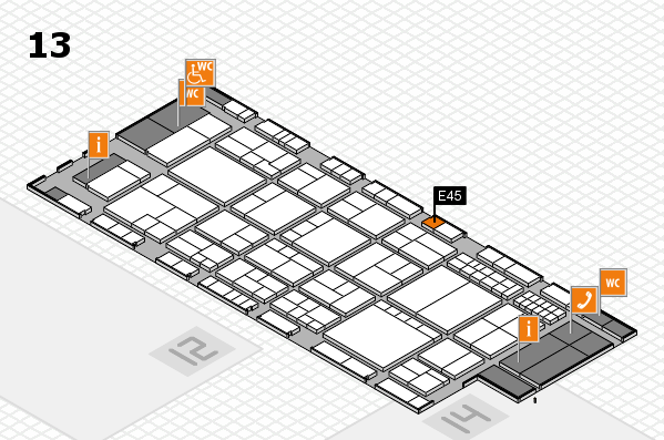 interpack 2017 hall map (Hall 13): stand E45