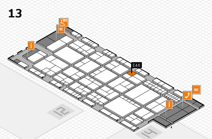 interpack 2017 hall map (Hall 13): stand E46