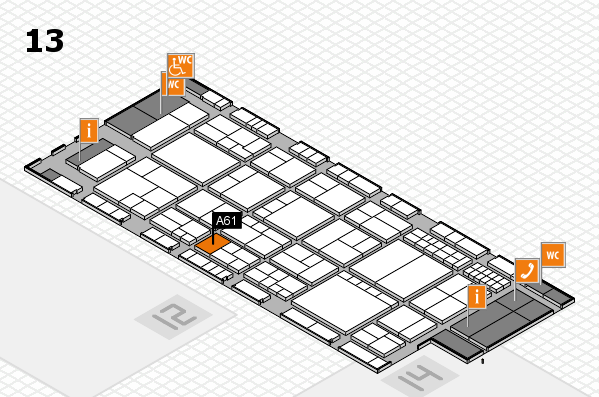 interpack 2017 hall map (Hall 13): stand A61