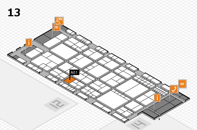 interpack 2017 Hallenplan (Halle 13): Stand A61