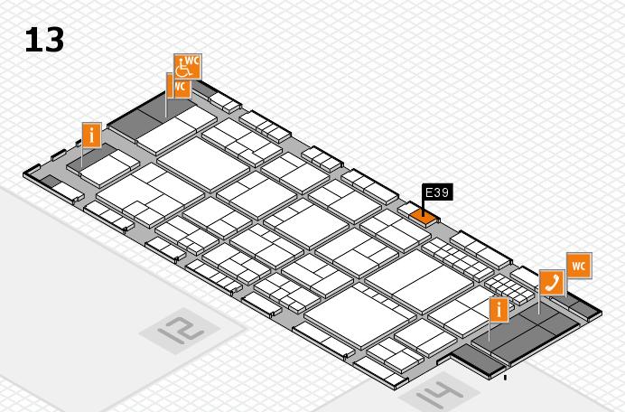 interpack 2017 Hallenplan (Halle 13): Stand E39