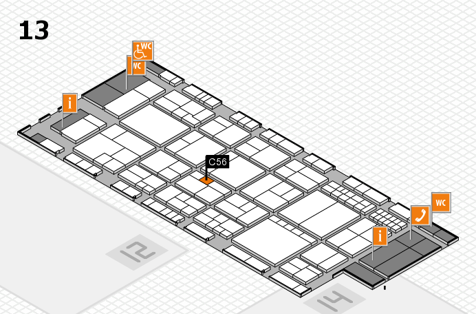 interpack 2017 hall map (Hall 13): stand C56
