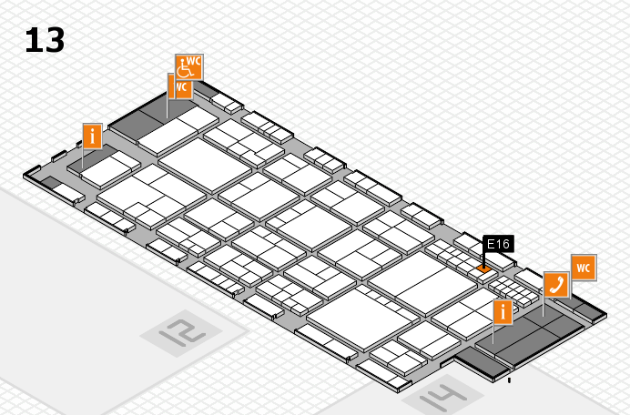 interpack 2017 hall map (Hall 13): stand E16
