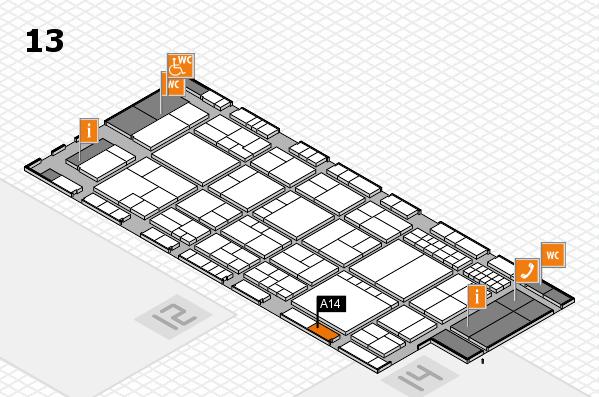 interpack 2017 Hallenplan (Halle 13): Stand A14