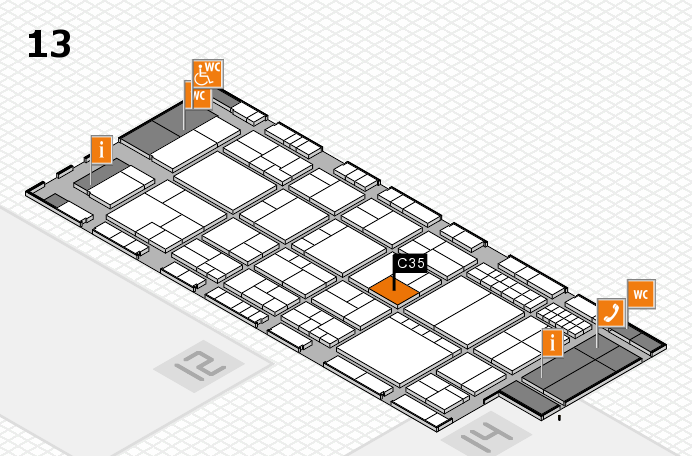interpack 2017 hall map (Hall 13): stand C35