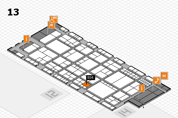 interpack 2017 Hallenplan (Halle 13): Stand B34