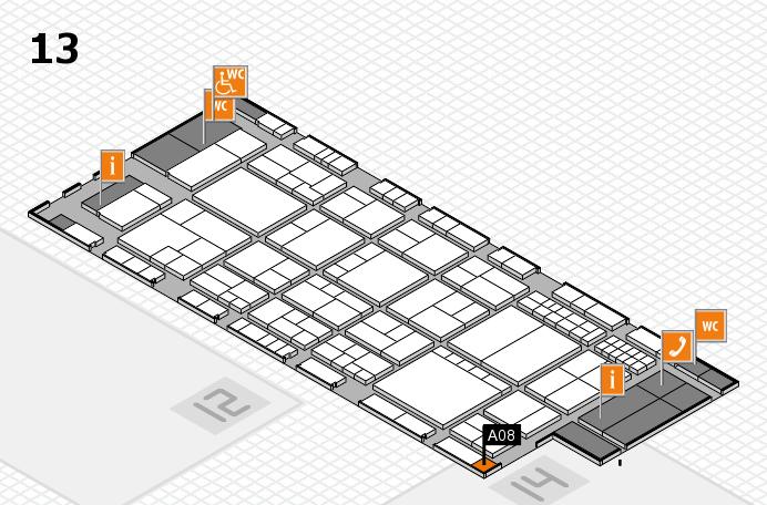 interpack 2017 Hallenplan (Halle 13): Stand A08