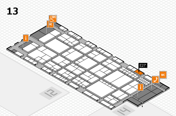 interpack 2017 Hallenplan (Halle 13): Stand E27