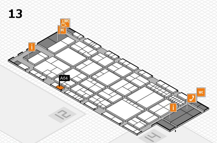 interpack 2017 Hallenplan (Halle 13): Stand A64