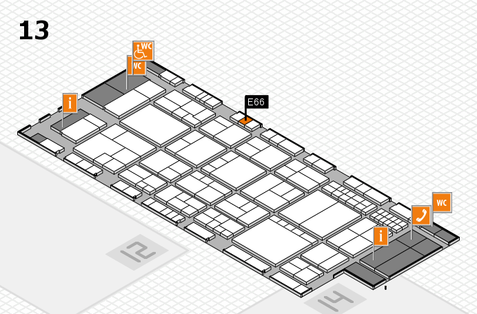 interpack 2017 hall map (Hall 13): stand E66