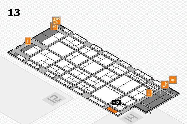 interpack 2017 hall map (Hall 13): stand A12