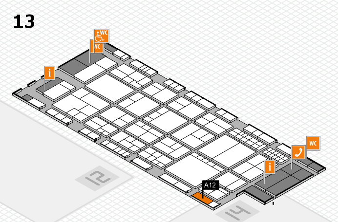 interpack 2017 Hallenplan (Halle 13): Stand A12