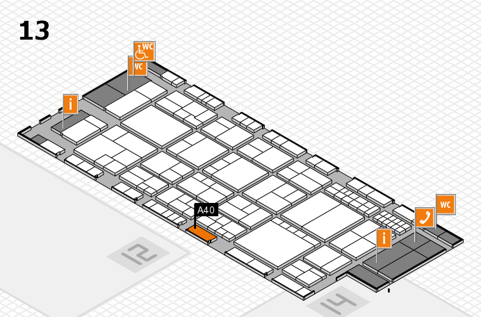 interpack 2017 Hallenplan (Halle 13): Stand A40