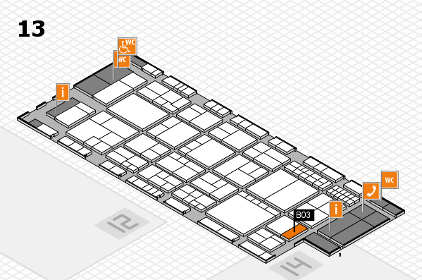interpack 2017 hall map (Hall 13): stand B03