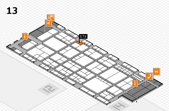 interpack 2017 hall map (Hall 13): stand E74