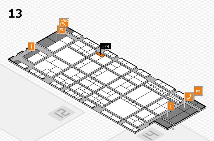 interpack 2017 Hallenplan (Halle 13): Stand E74
