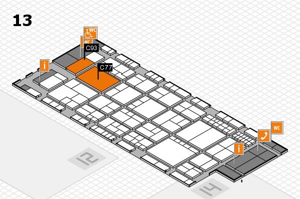 interpack 2017 Hallenplan (Halle 13): Stand C77, Stand C93