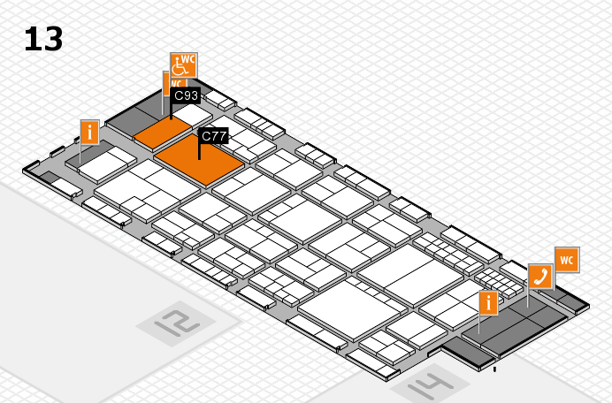 interpack 2017 hall map (Hall 13): stand C77, stand C93