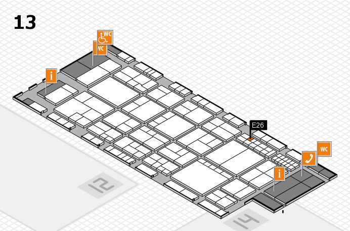 interpack 2017 hall map (Hall 13): stand E26