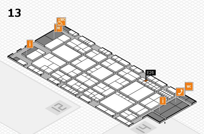 interpack 2017 Hallenplan (Halle 13): Stand E26