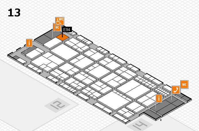 interpack 2017 Hallenplan (Halle 13): Stand E94
