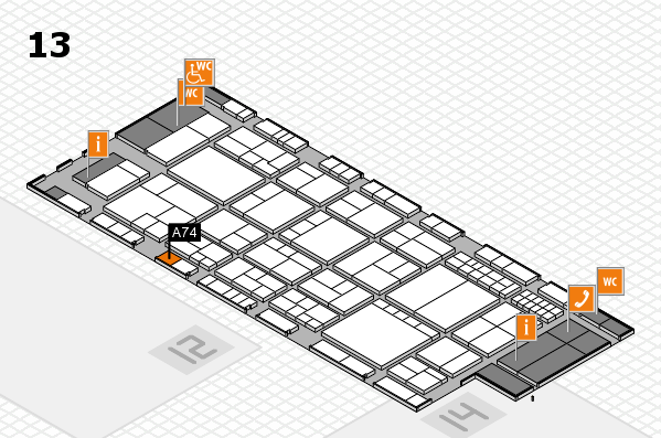 interpack 2017 hall map (Hall 13): stand A74