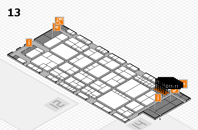 interpack 2017 hall map (Hall 13): stand D11-1, stand D11-9