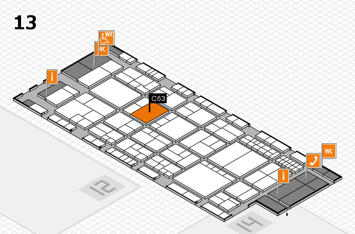 interpack 2017 hall map (Hall 13): stand C63