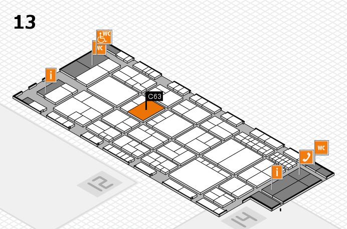 interpack 2017 Hallenplan (Halle 13): Stand C63